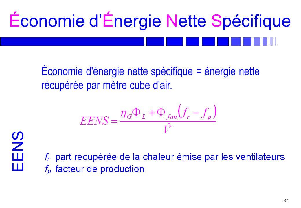 Économie d'Énergie Nette Spécifique