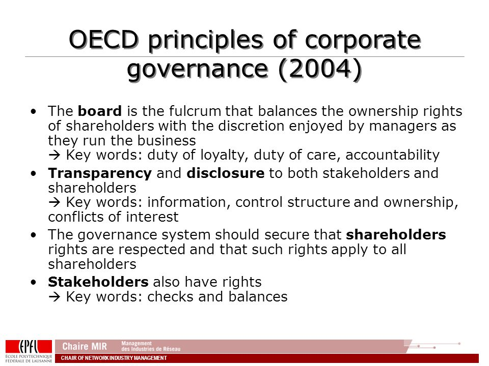 OECD principles of corporate governance (2004)