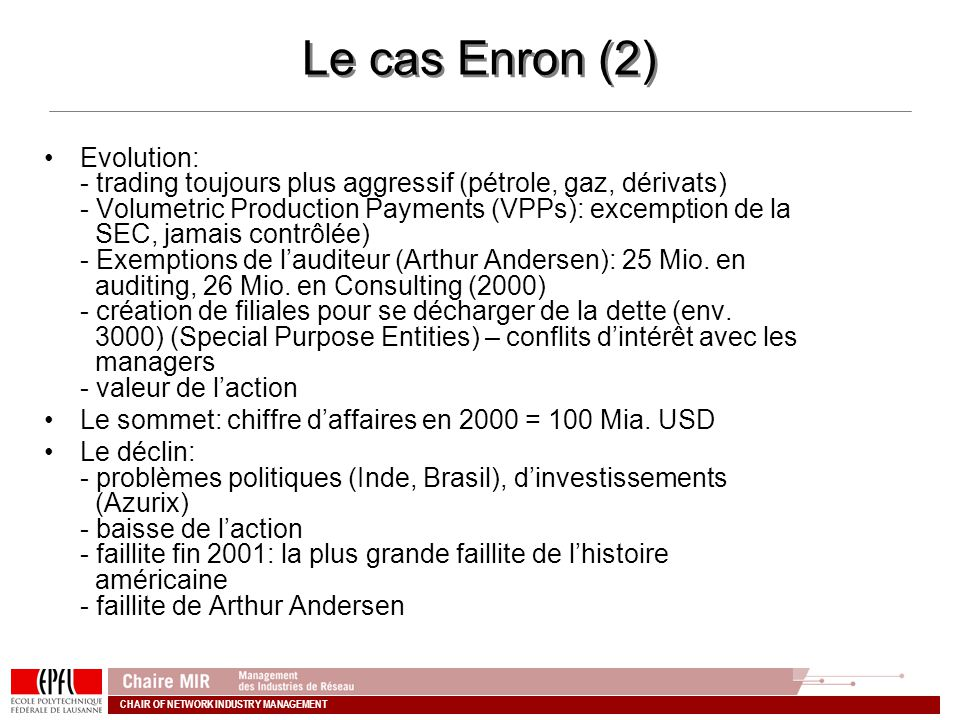 Le cas Enron (2)