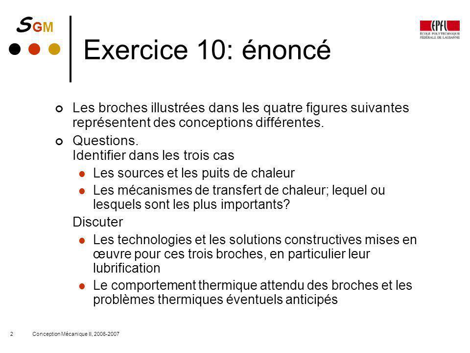 Exercice 10: énoncé Les broches illustrées dans les quatre figures suivantes représentent des conceptions différentes.