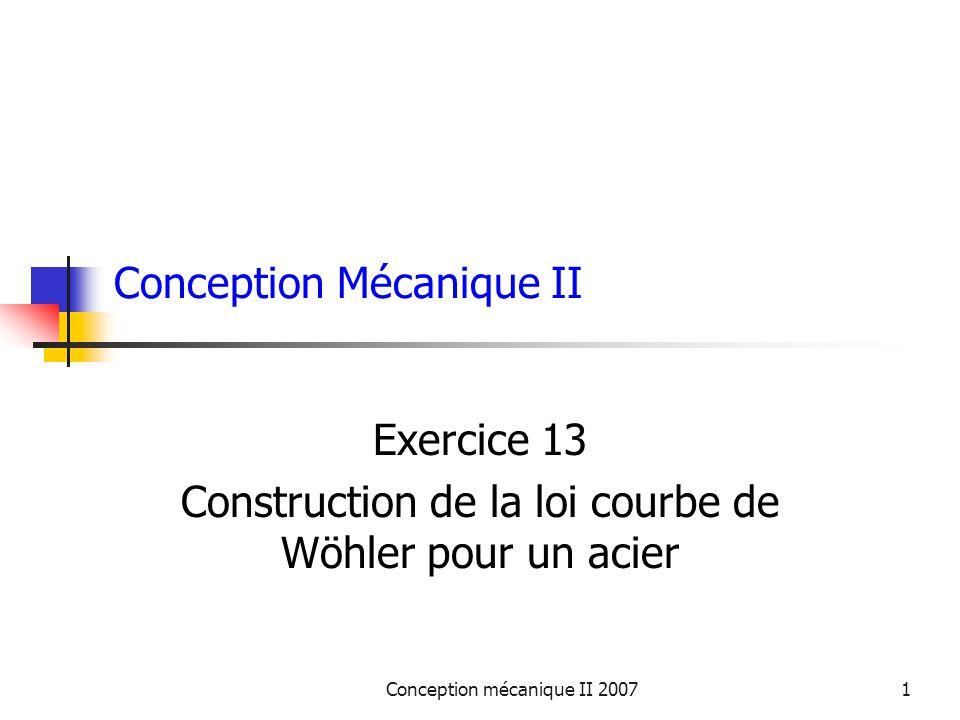 Conception Mécanique II