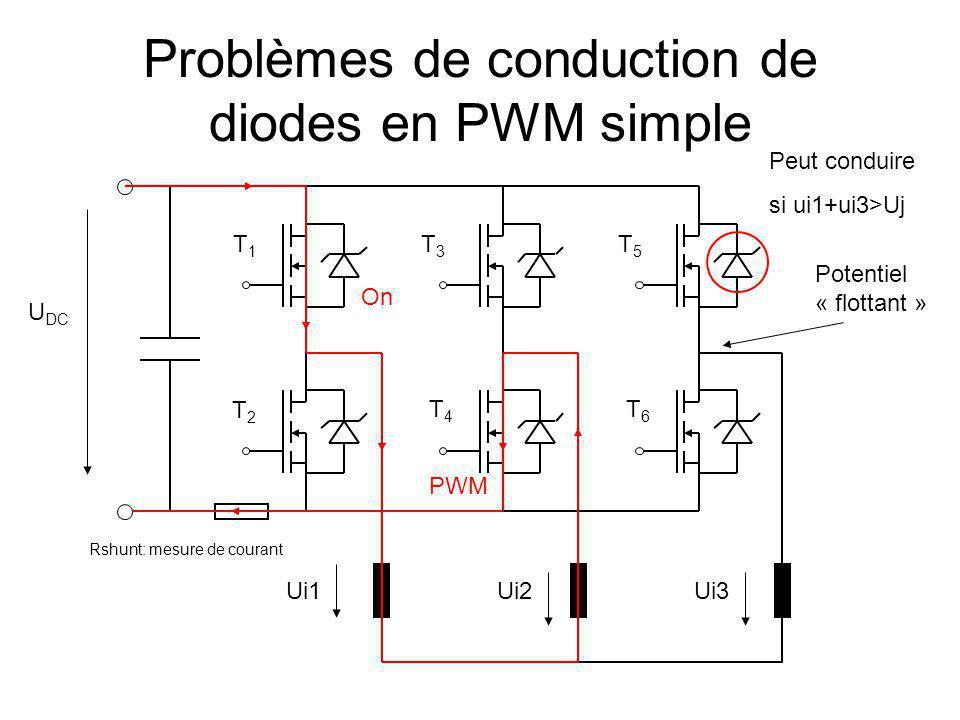 Problèmes de conduction de diodes en PWM simple