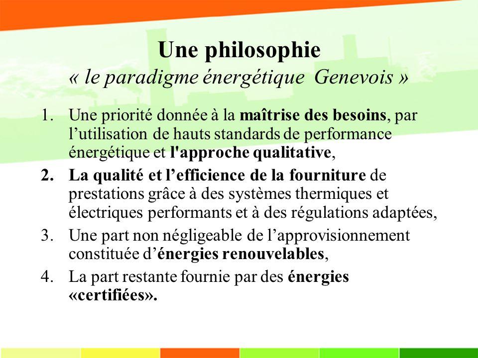 Une philosophie « le paradigme énergétique Genevois »