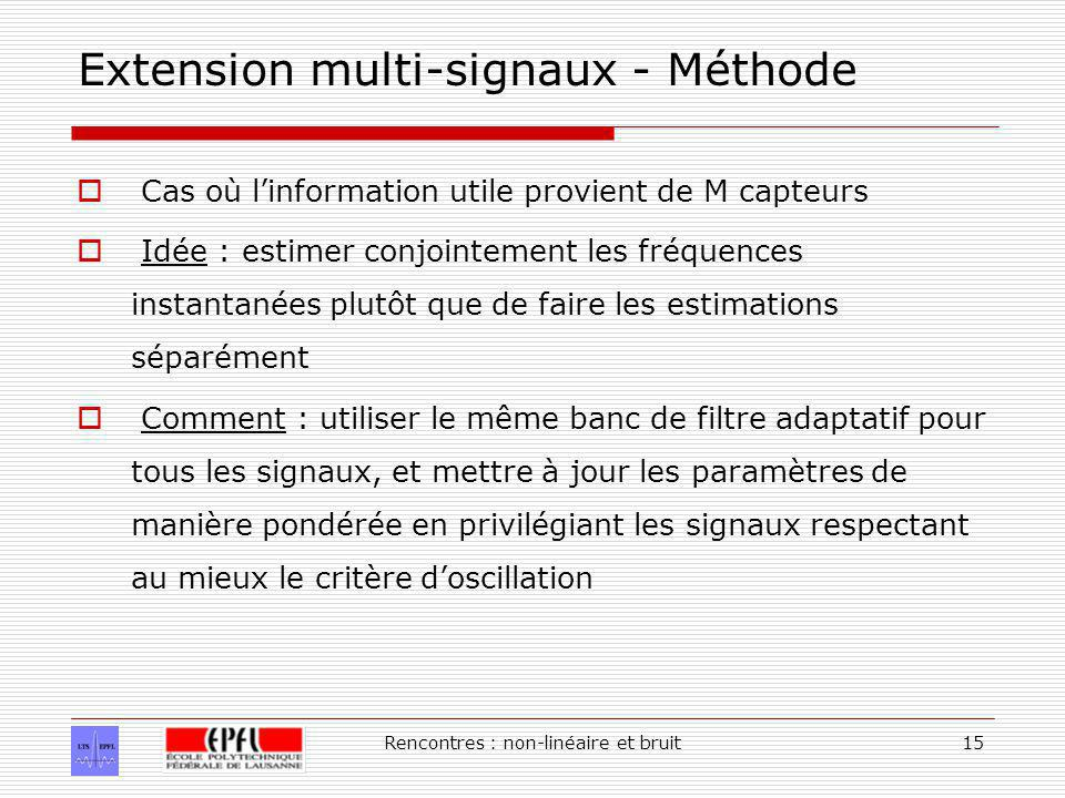 Extension multi-signaux - Méthode