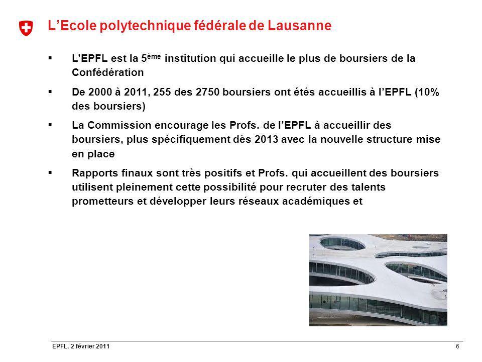 L'Ecole polytechnique fédérale de Lausanne