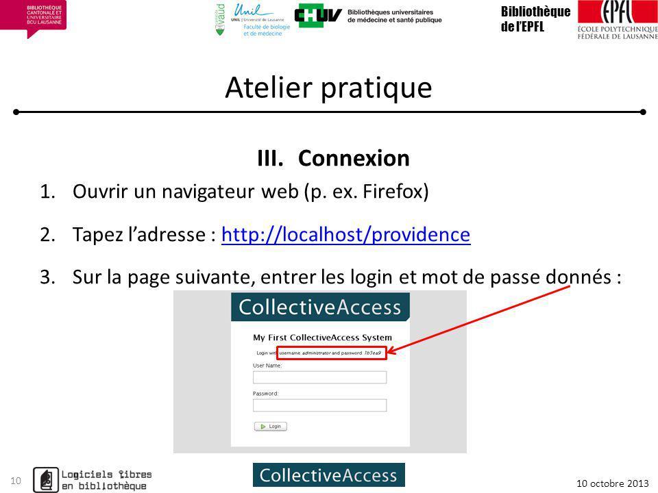 Atelier pratique Connexion Ouvrir un navigateur web (p. ex. Firefox)