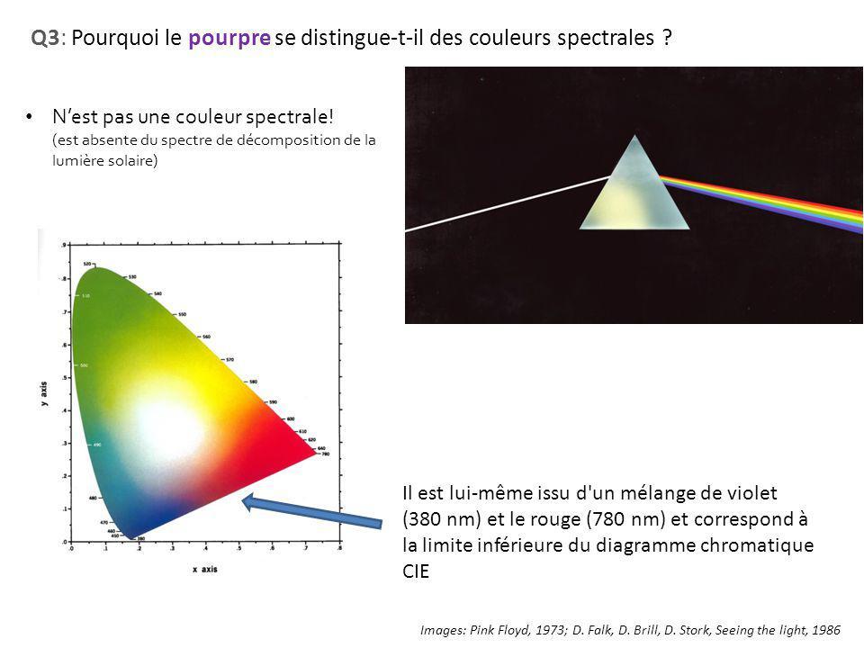 Q3: Pourquoi le pourpre se distingue-t-il des couleurs spectrales