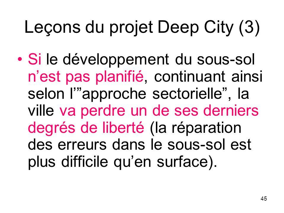 Leçons du projet Deep City (3)