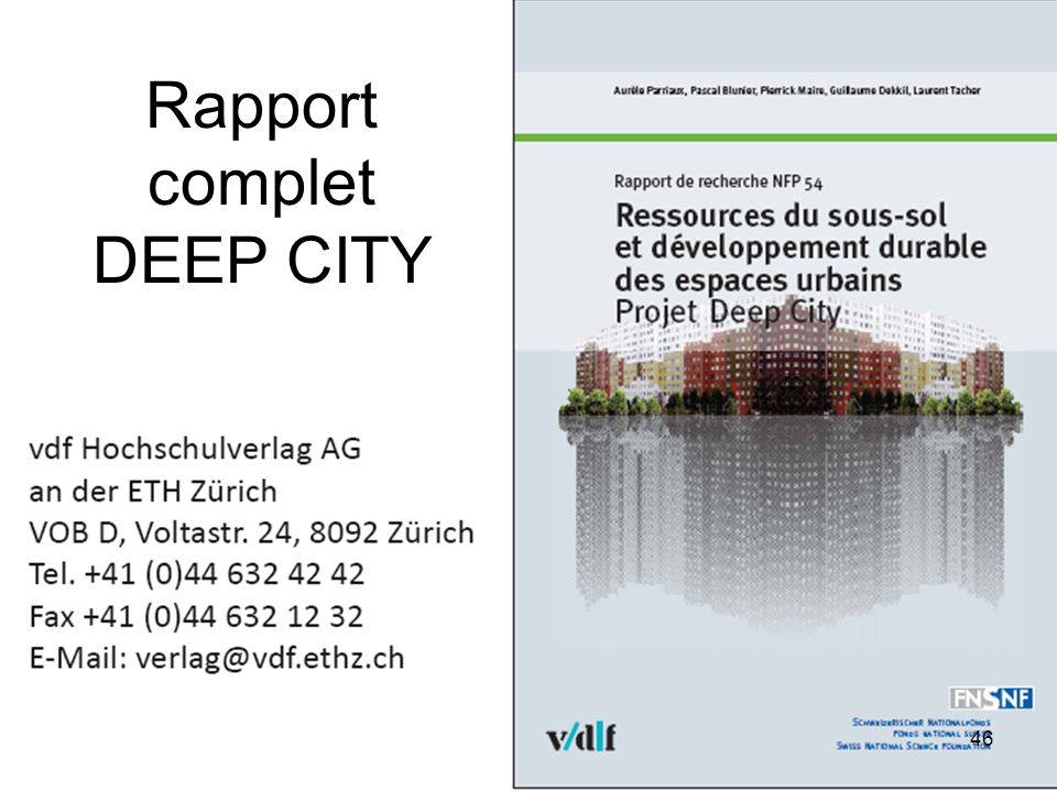 Rapport complet DEEP CITY