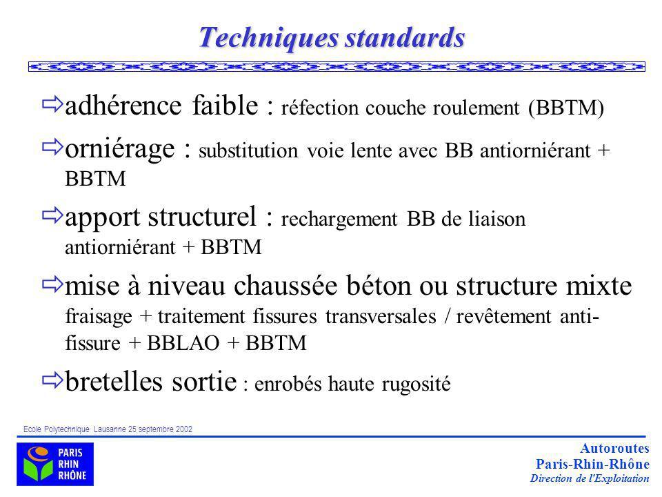 adhérence faible : réfection couche roulement (BBTM)