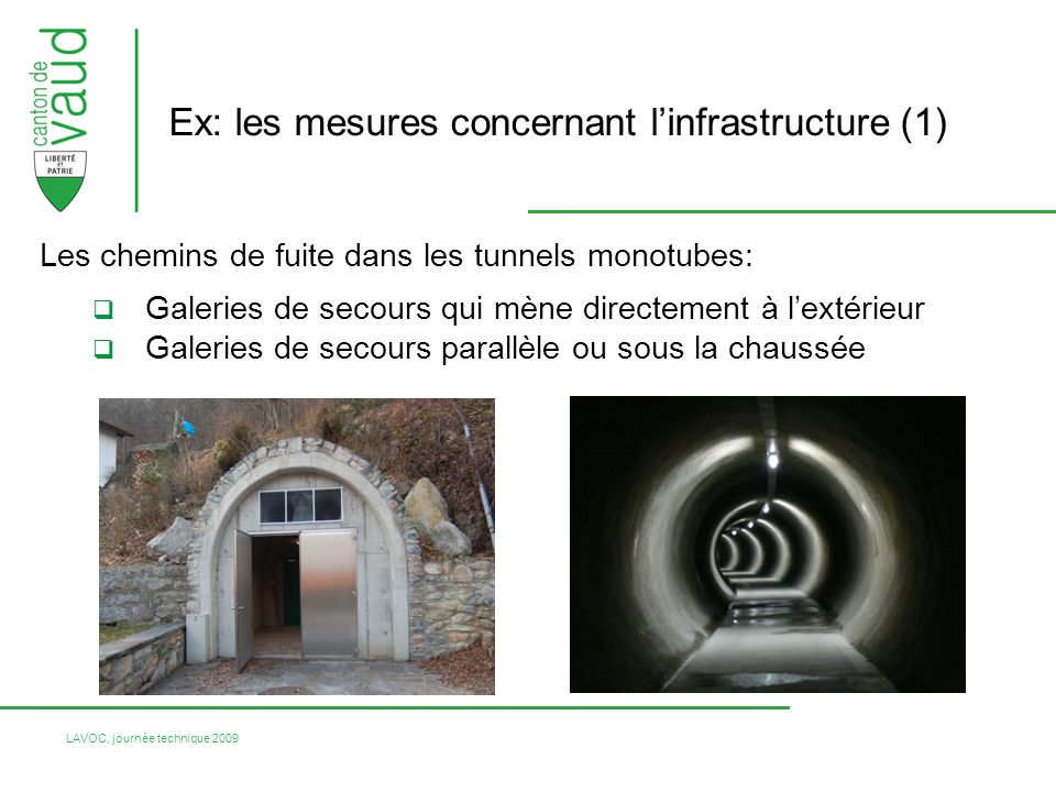 Ex: les mesures concernant l'infrastructure (1)