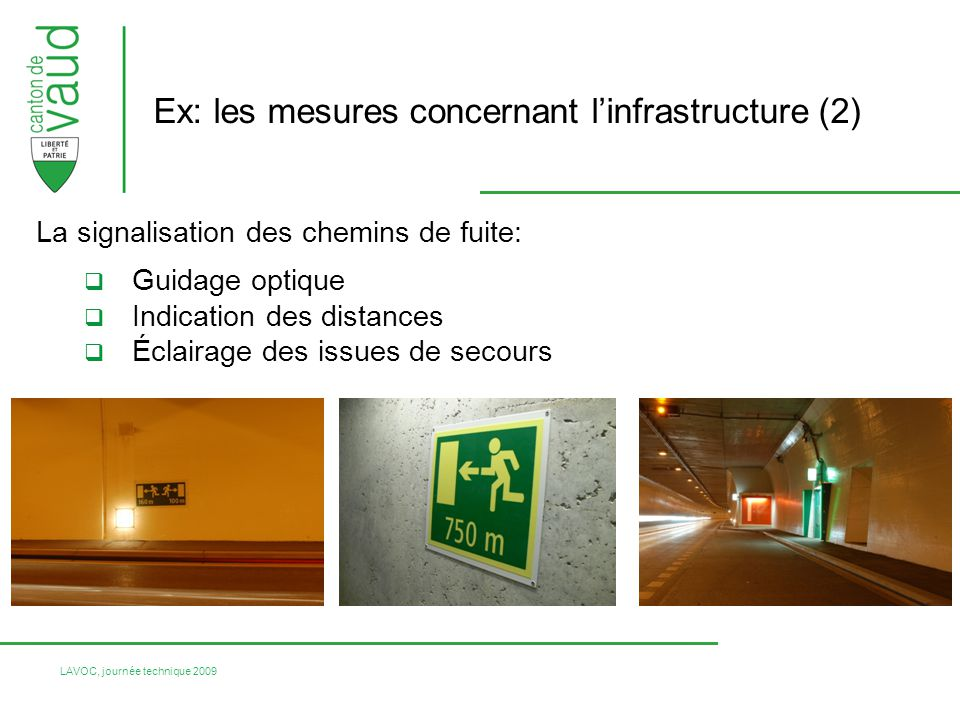 Ex: les mesures concernant l'infrastructure (2)