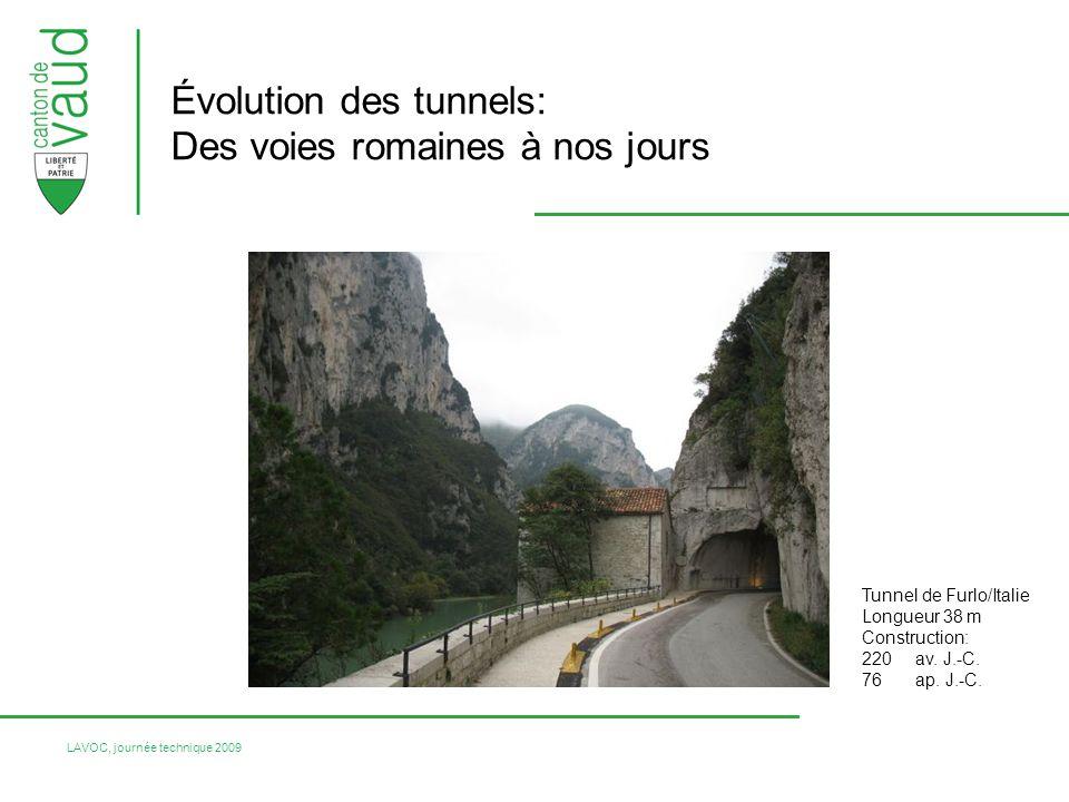 Évolution des tunnels: Des voies romaines à nos jours