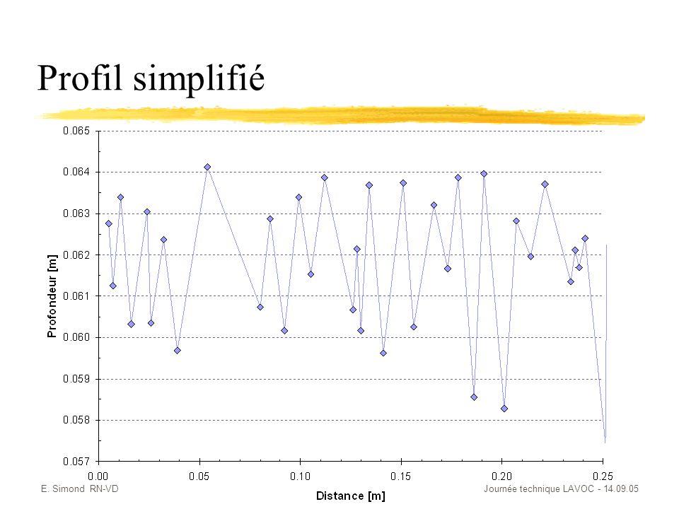 Profil simplifié E. Simond RN-VD Journée technique LAVOC - 14.09.05