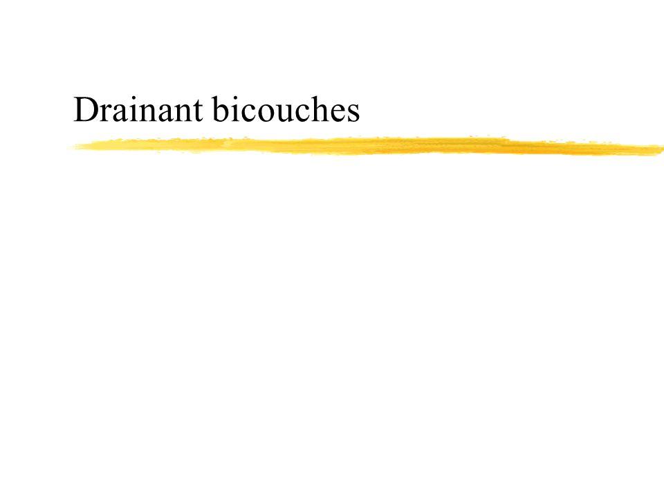 Drainant bicouches