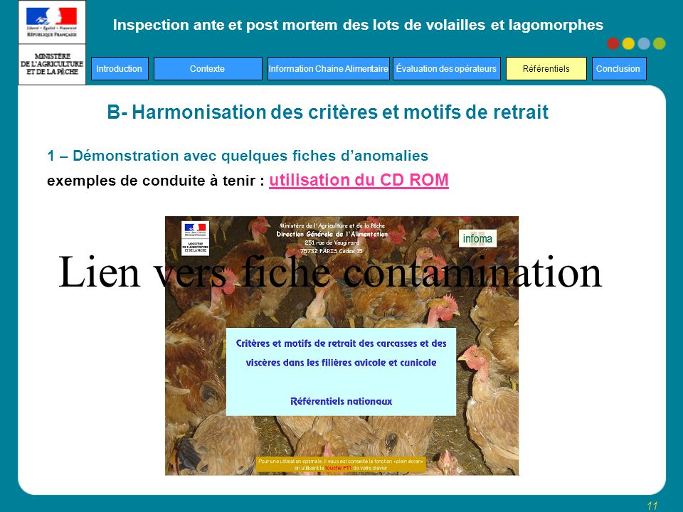 B- Harmonisation des critères et motifs de retrait