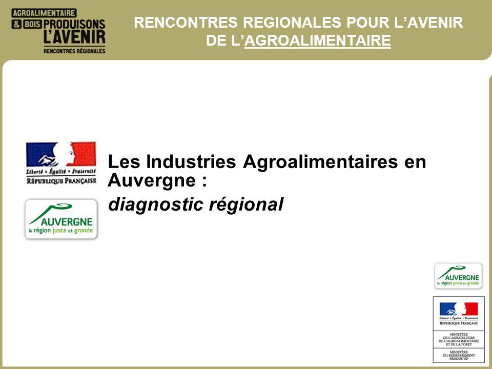 RENCONTRES REGIONALES POUR L'AVENIR DE L'AGROALIMENTAIRE