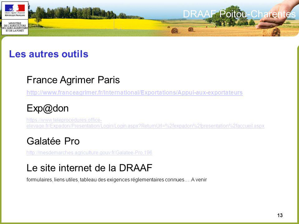 Le site internet de la DRAAF
