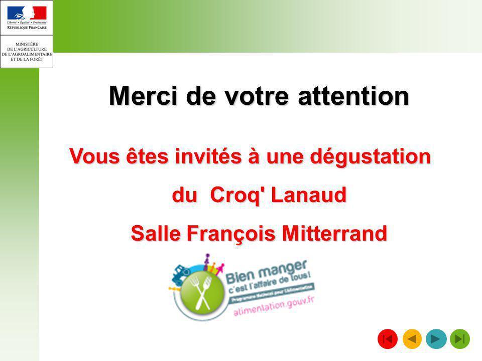 Merci de votre attention Salle François Mitterrand
