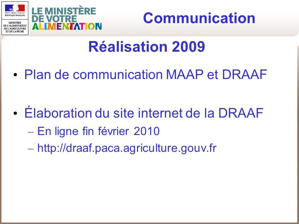 Communication Réalisation 2009