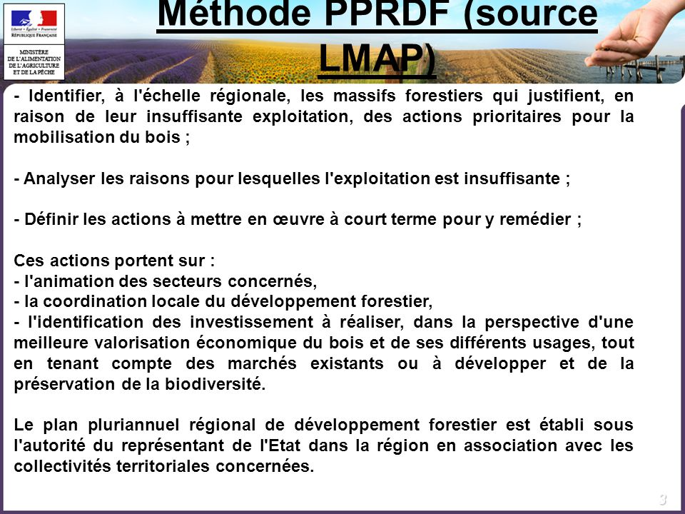 Méthode PPRDF (source LMAP)