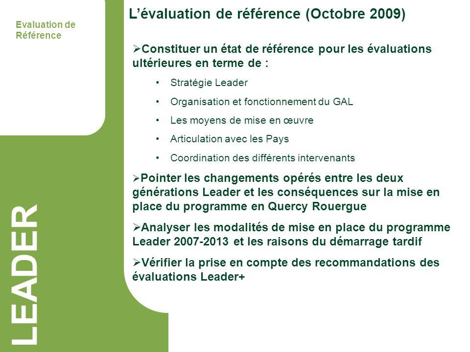 LEADER L'évaluation de référence (Octobre 2009)