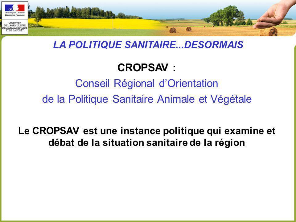 LA POLITIQUE SANITAIRE...DESORMAIS
