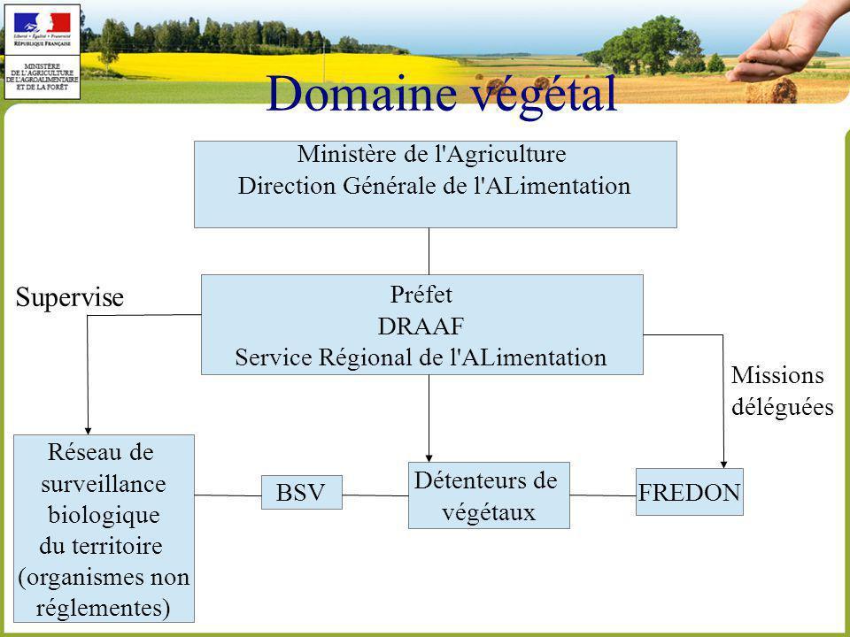 Domaine végétal Supervise Ministère de l Agriculture