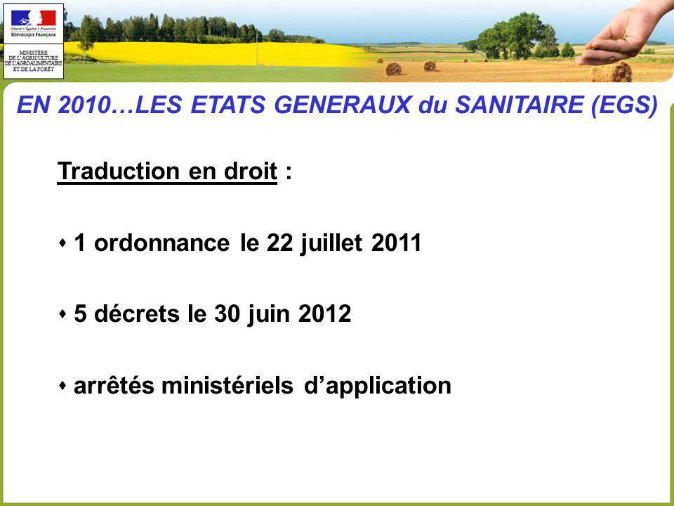 EN 2010…LES ETATS GENERAUX du SANITAIRE (EGS)