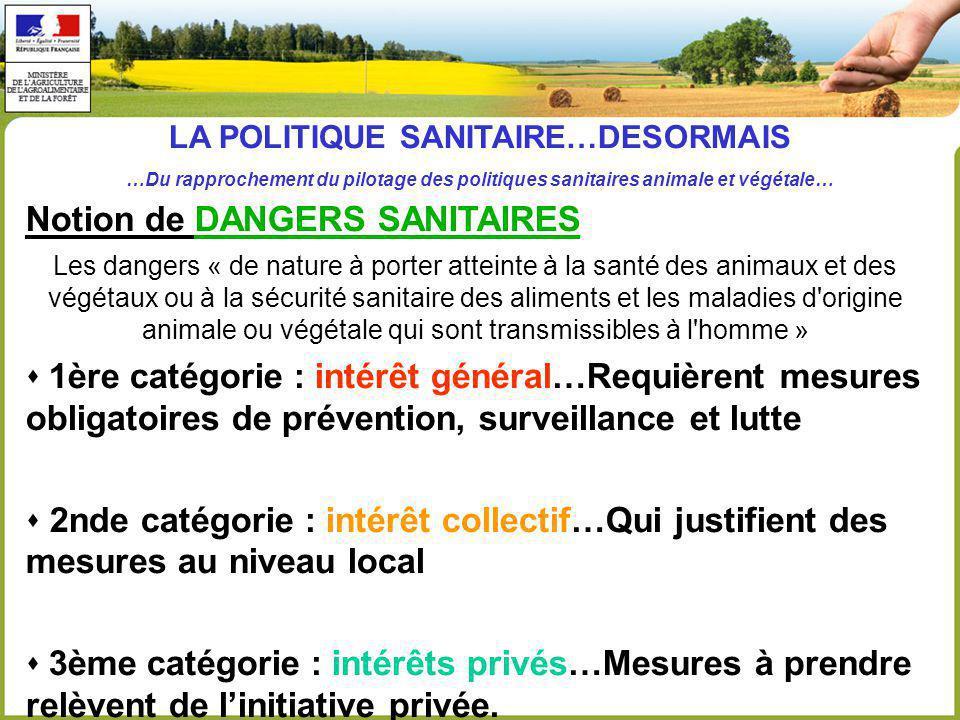 LA POLITIQUE SANITAIRE…DESORMAIS