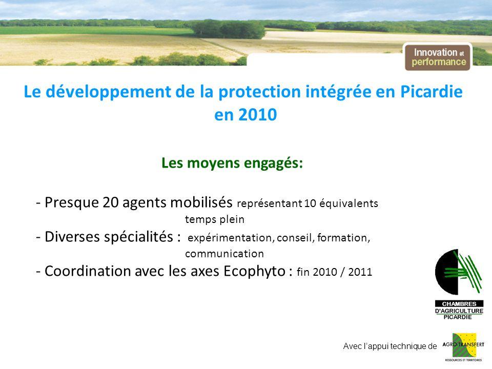 Le développement de la protection intégrée en Picardie en 2010