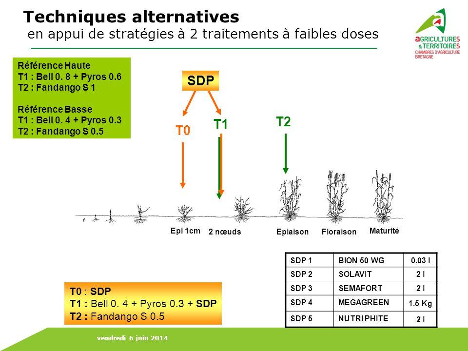 Techniques alternatives en appui de stratégies à 2 traitements à faibles doses