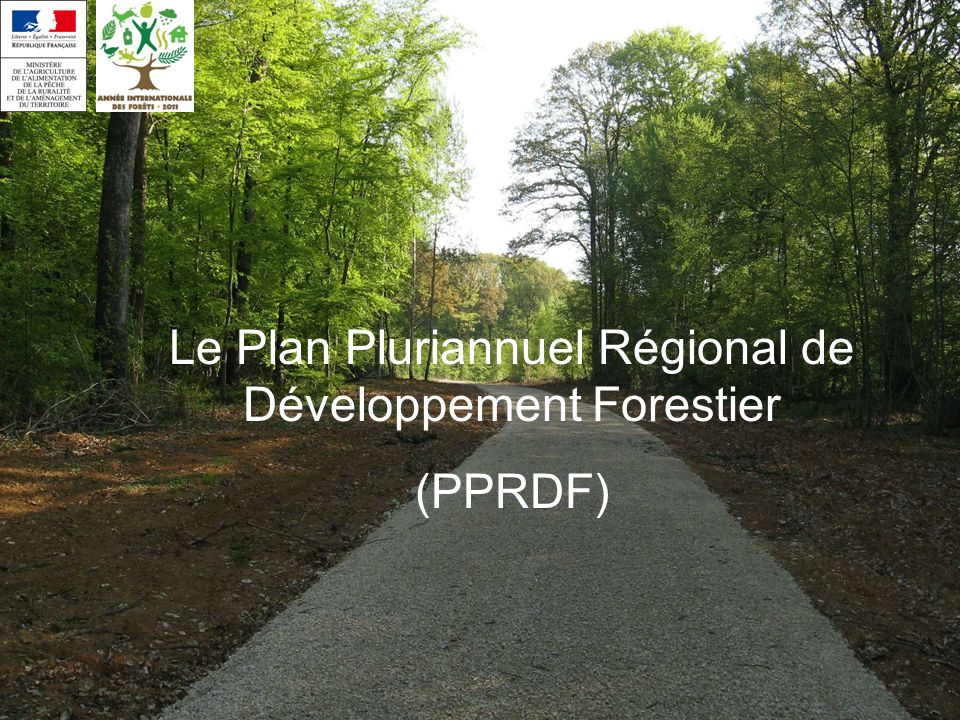 Le Plan Pluriannuel Régional de Développement Forestier