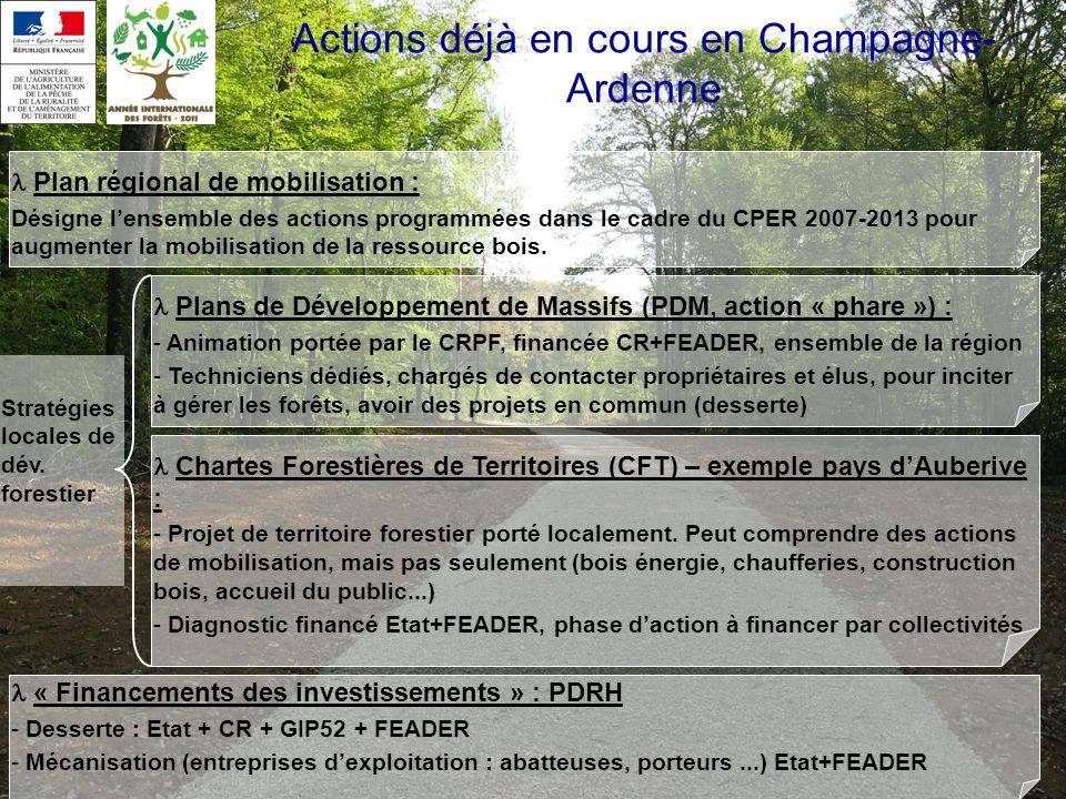 Actions déjà en cours en Champagne-Ardenne