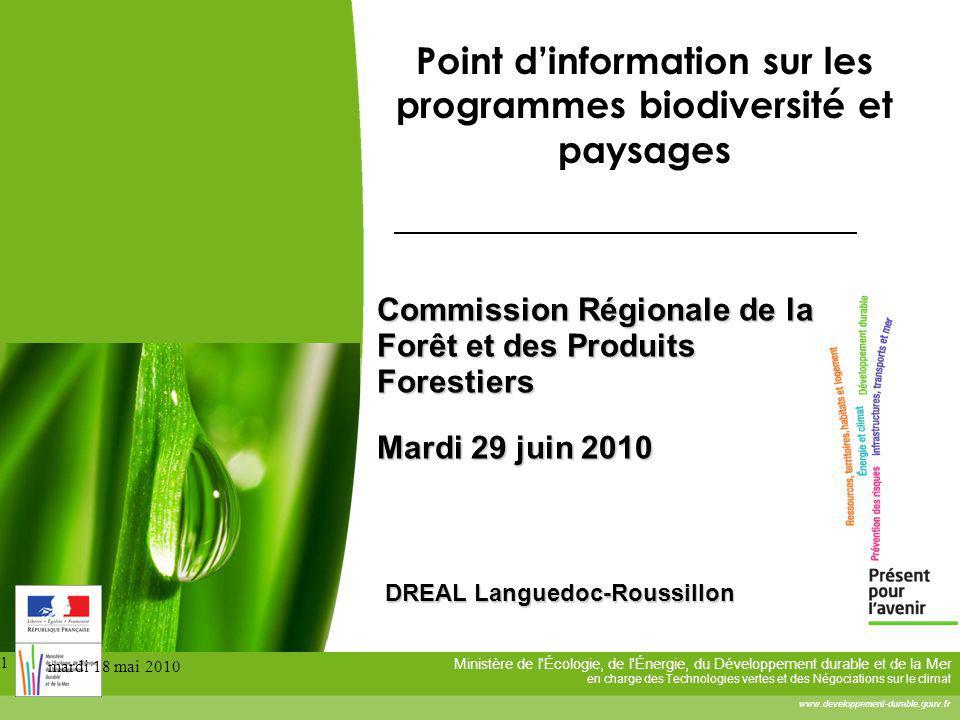 Point d'information sur les programmes biodiversité et paysages