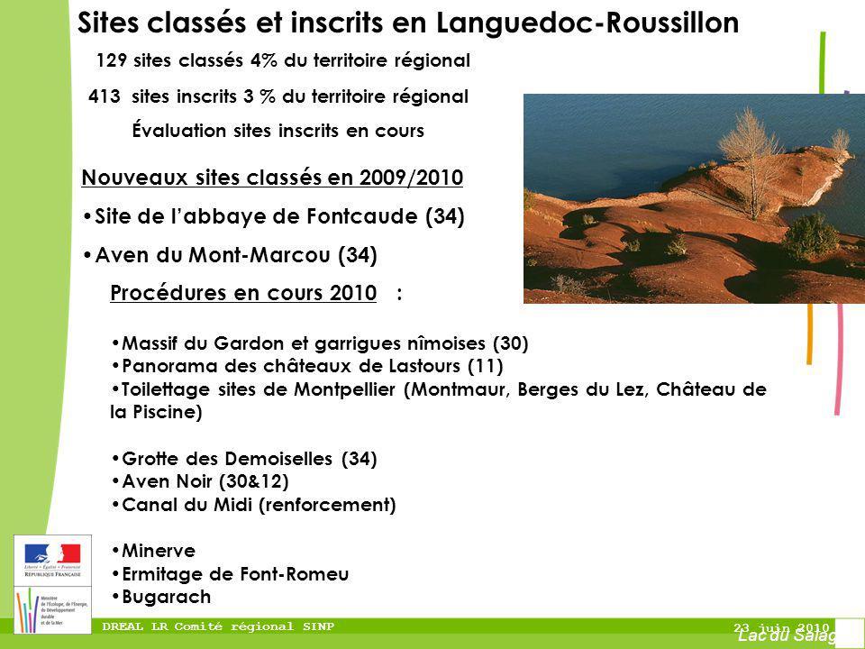 Sites classés et inscrits en Languedoc-Roussillon