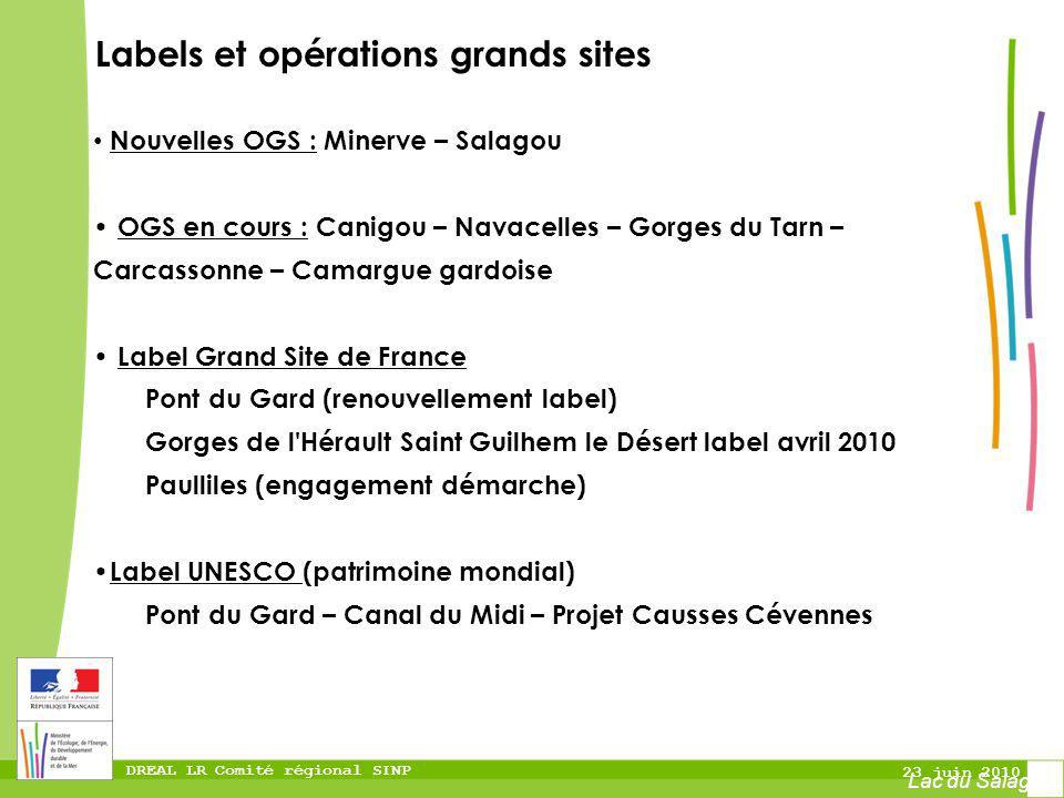 Labels et opérations grands sites