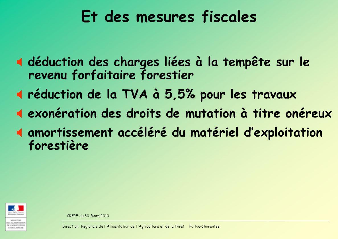 Et des mesures fiscales