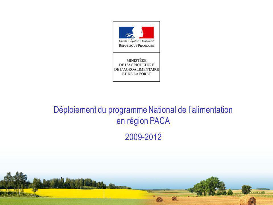 Déploiement du programme National de l'alimentation en région PACA
