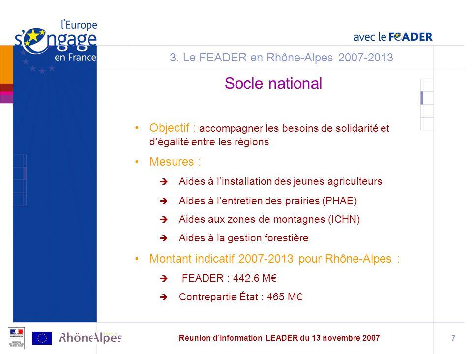 3. Le FEADER en Rhône-Alpes 2007-2013