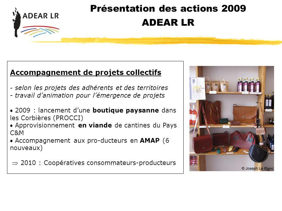 Présentation des actions 2009 ADEAR LR