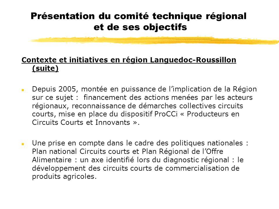 Présentation du comité technique régional et de ses objectifs