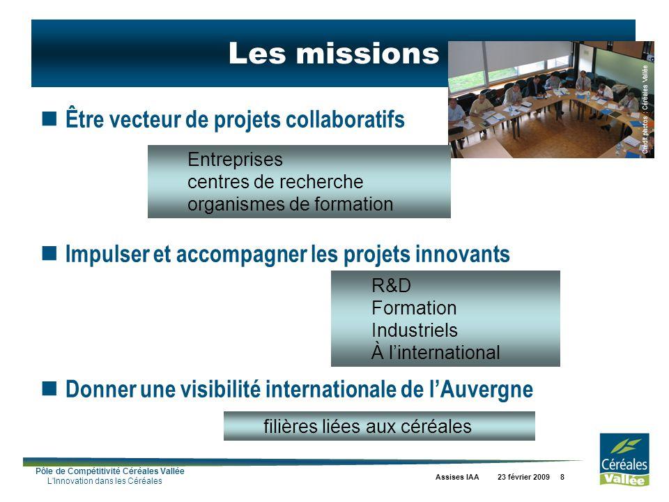 Les missions Être vecteur de projets collaboratifs