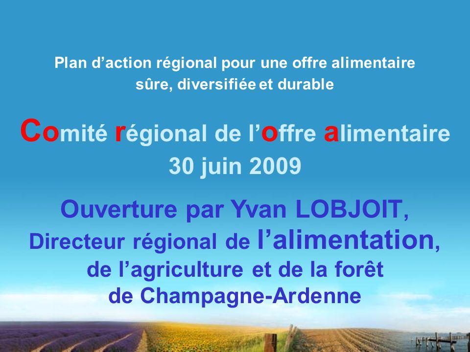 Comité régional de l'offre alimentaire