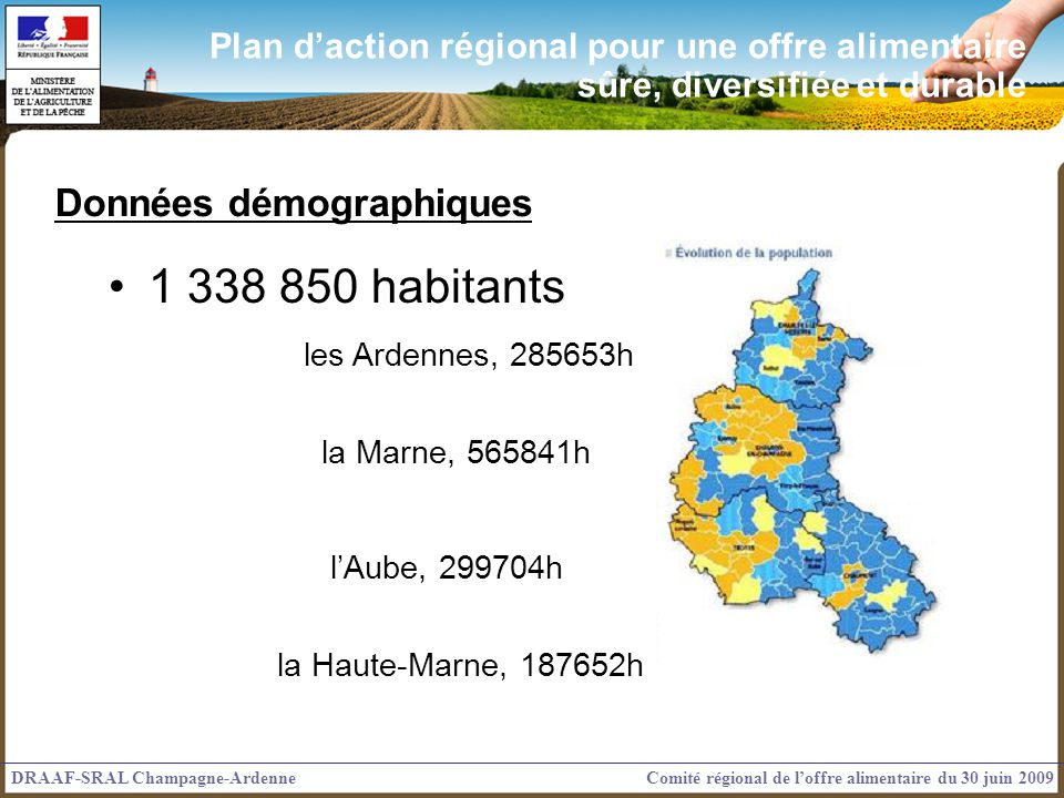 1 338 850 habitants Données démographiques