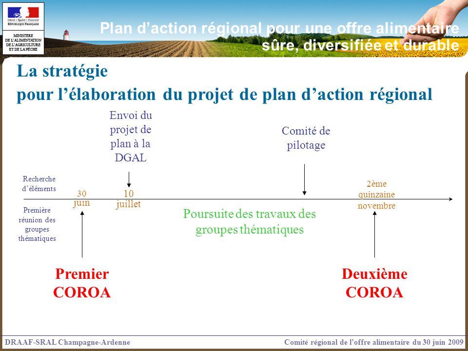 pour l'élaboration du projet de plan d'action régional