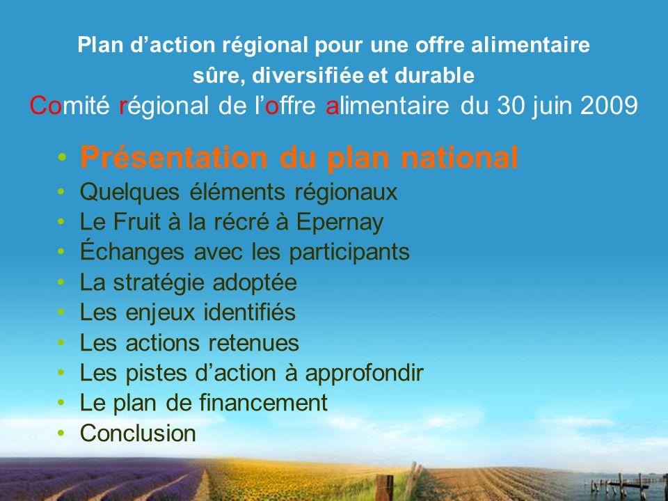 Présentation du plan national