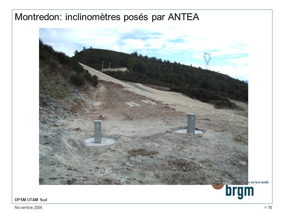 Montredon: inclinomètres posés par ANTEA