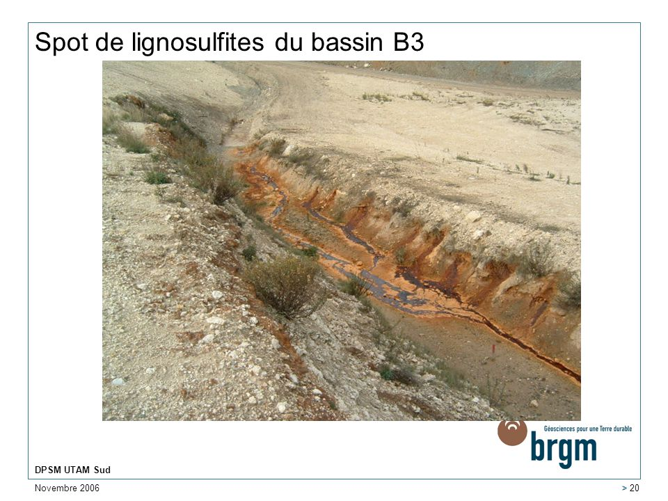 Spot de lignosulfites du bassin B3