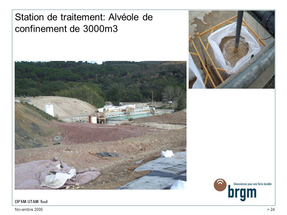 Station de traitement: Alvéole de confinement de 3000m3